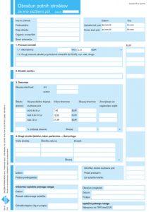 Obračun potnih stroškov